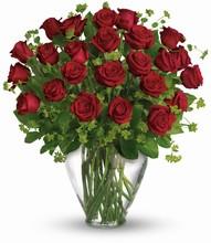 Bouquet   « Mon Parfait Amour »   <br>    2 Douzaines de Roses Rouges