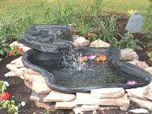 Algreen 105 Gallon Black Folding Preformed Pond/Streamlet Kit