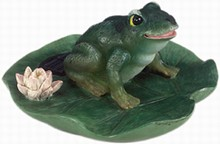 Floating Solar-Powered Frog Pond Light