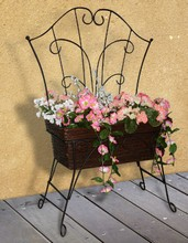 Iron and Willow Chair Planter TTP04438