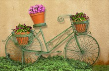 Wire Bicycle Planter