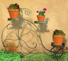 Antique Green Wire Tricycle Planter JFA050865