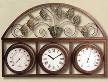 Wall Mount Grape and Vine Clock/Gauge DCTGA318101