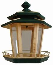 Wooden Six Sided Bird Feeder ZTN15