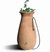 Rain Catcher Urn- Cascata Rain Barrel with Crown Planter