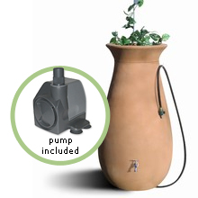 Deluxe Cascata Rain Barrel Package with Pump-Driven Watering System