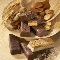 Barres, biscuits, gaufrettes et collations de soya