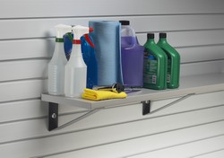 Shelves and brackets - For slatwall panel