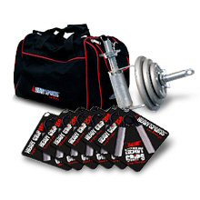 SORRY-- UNAVAILABLE--TEMP OUT OF GYMBAG STOCK- USA Only-- Athlete's Gift Pack: 2 Heavy Handle Dumbells(1