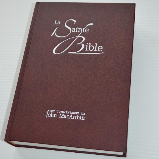 La Sainte Bible - commentaires de John MacArthur et guides d'étude - imprimé