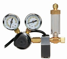 Milwaukee Regulator with Solenoid Valve, Needle Valve and Bubble Counter - Fits Standard CO2 Cylinders