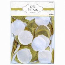 Pétales de roses blanc & doré