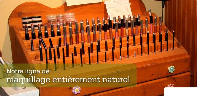 Notre ligne de maquillage enti�rement naturel