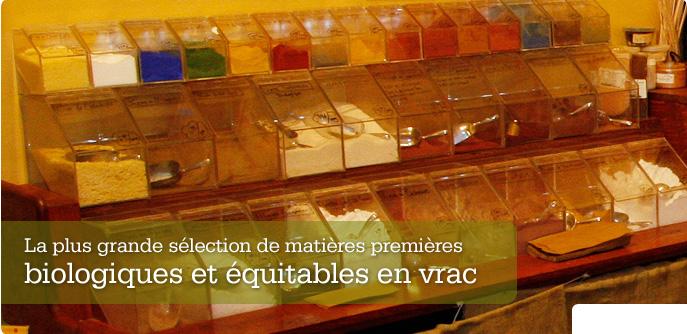 La plus grande sélection de matières premières biologiques et équitables en vrac
