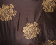 Embroidered Dupioni Silk