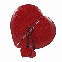 9176HT2 Red Croco-Illusion Heart