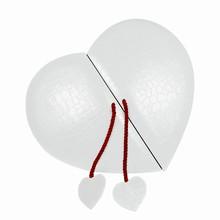 9186ht3 White Croco-Illusion Heart