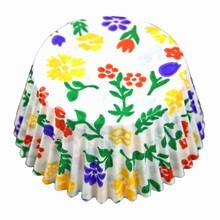 (s85mfl)Floral print cupcake liners