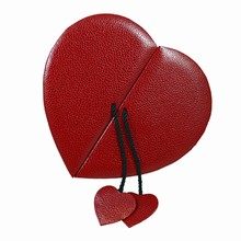 9201HT2 Red Lizard Leather Illusion Heart