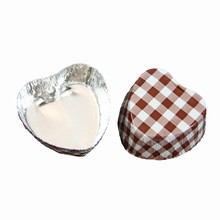 Candy cups heart brown & white VF102 Vrac