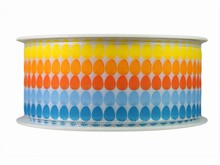 r660 Blue, Orange and Yellow Egg Print Ribbon