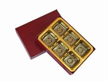 9176106 Boîte rigide illusion croco rouge base rouge 6ct