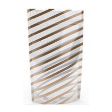 Standing Chic Gold Stripes Bag 4x6