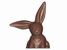 art16570 Rabbit with Long Ears Double Mold