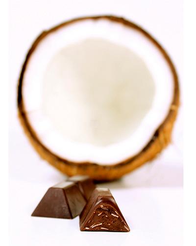 B�ton de chocolat noir � 60% et �clats de noix de coco - Theobroma Chocolat