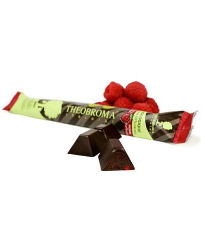 B�ton de chocolat noir � 60% et �clats de framboise - Theobroma Chocolat
