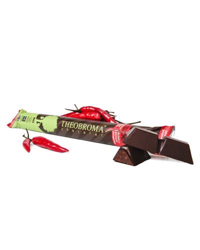 B�ton de chocolat noir �clats piment Jalapeno biologique 60% - Theobroma Chocolat
