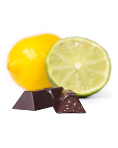 B�ton chocolat noir �clats citron-lime biologique 60% - Theobroma Chocolat