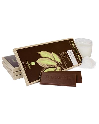 Tablette de lait cr�meux � 38 % et fleur de sel - Theobroma Chocolat