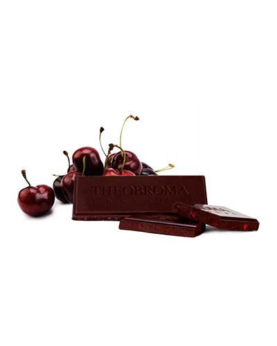 Tablette de chocolat Noir � 60 % et �clats de cerises - Theobroma Chocolat