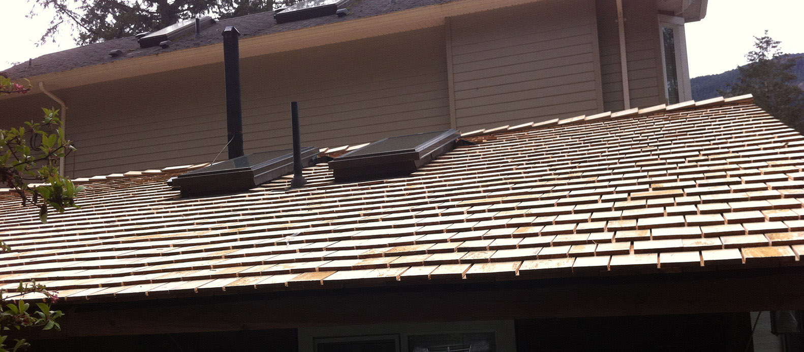 prestained shingles
