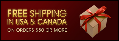 Free Shipping in USA & CANADA on Orders $25 or More